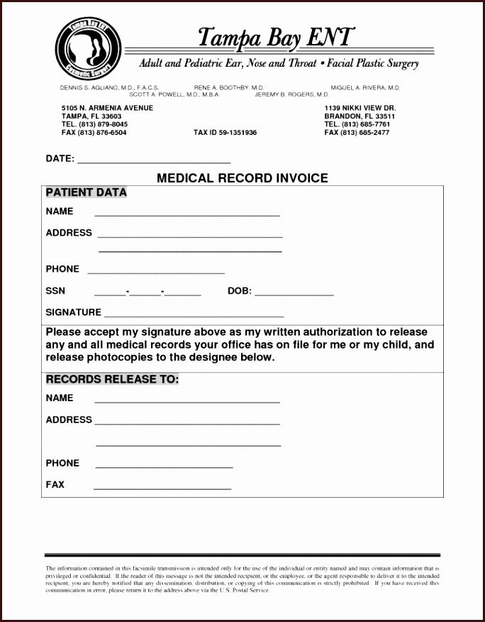 Health Insurance Invoice Template