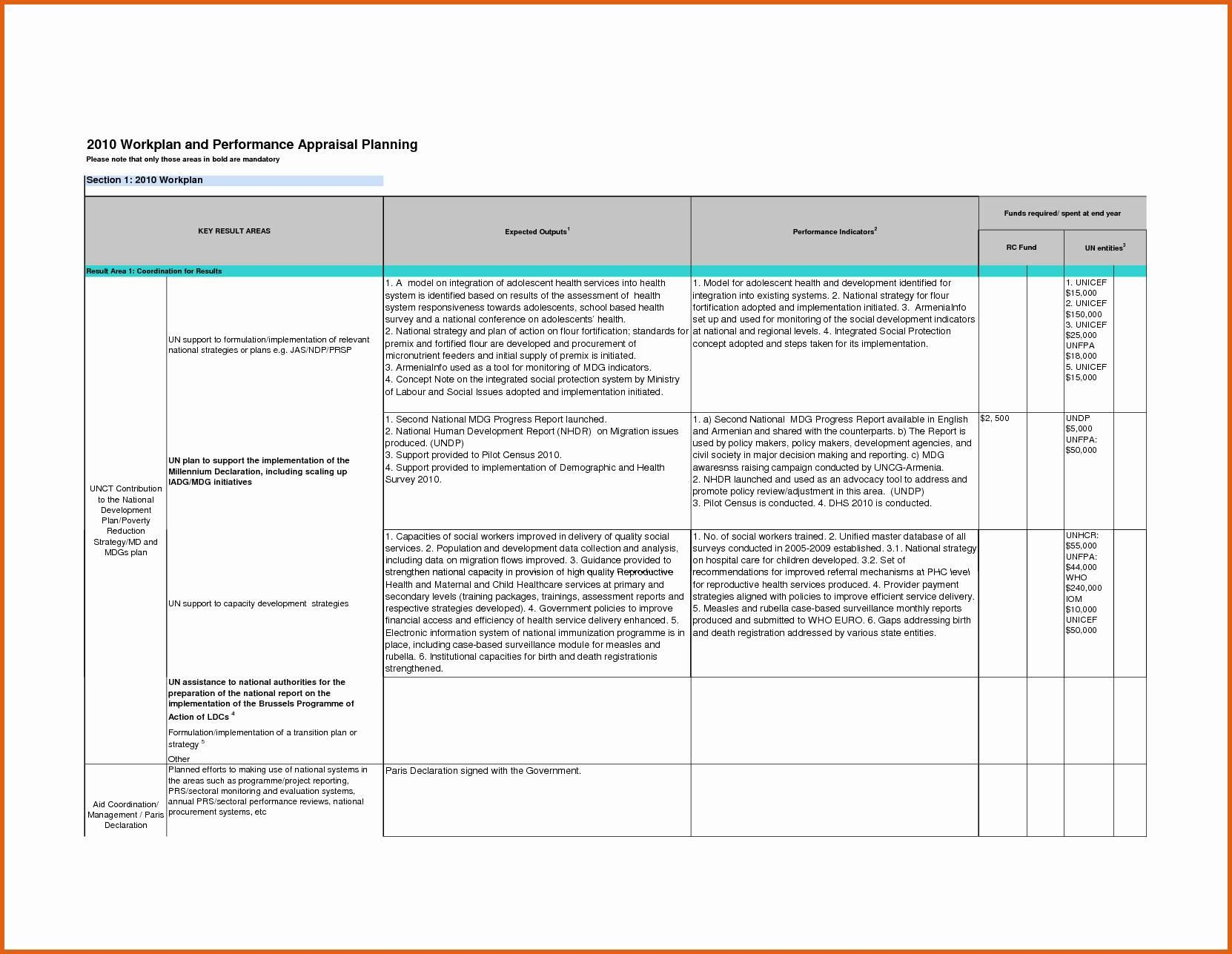 Healthcare Performance Improvement Plan Template