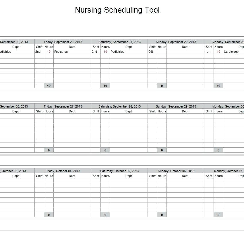 Healthcare Staff Scheduling Template