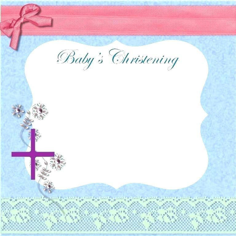 Hello Kitty Baptismal Invitation Template
