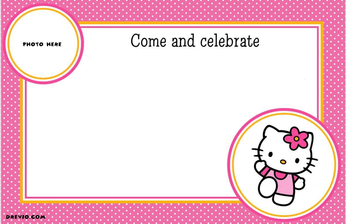 Hello Kitty Birthday Invitation Designs