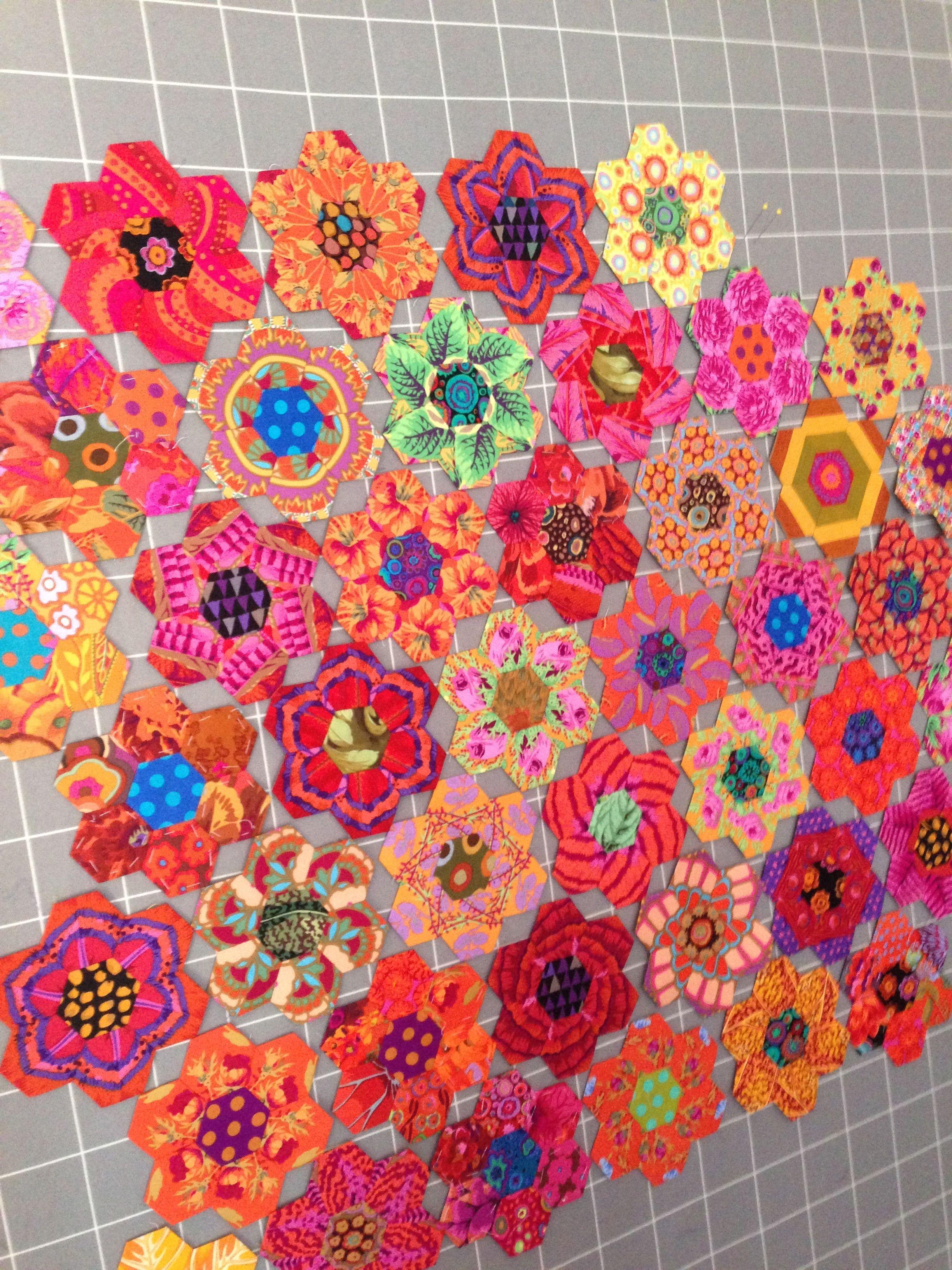 Hexagon Quilt Patterns Pinterest