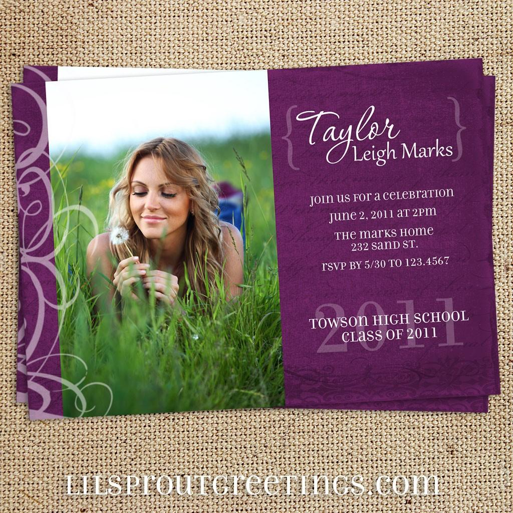 High School Graduation Announcement Templates