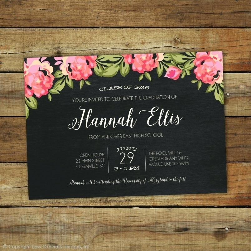 High School Graduation Announcements Templates Free