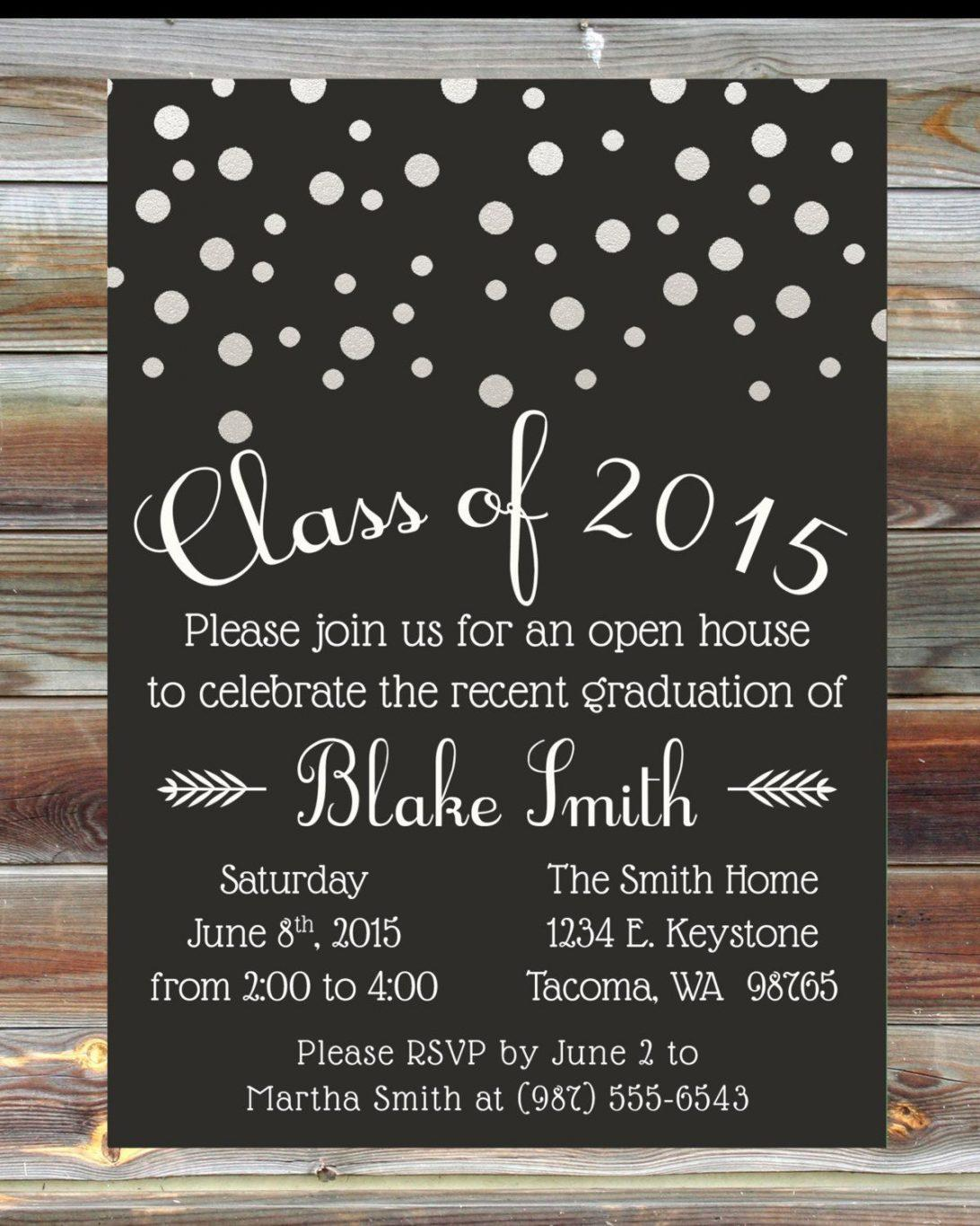 High School Graduation Ticket Template