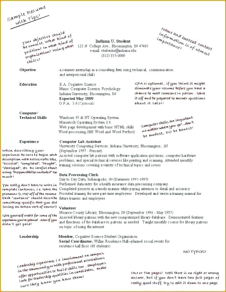 High School Student Resume Template For Scholarships
