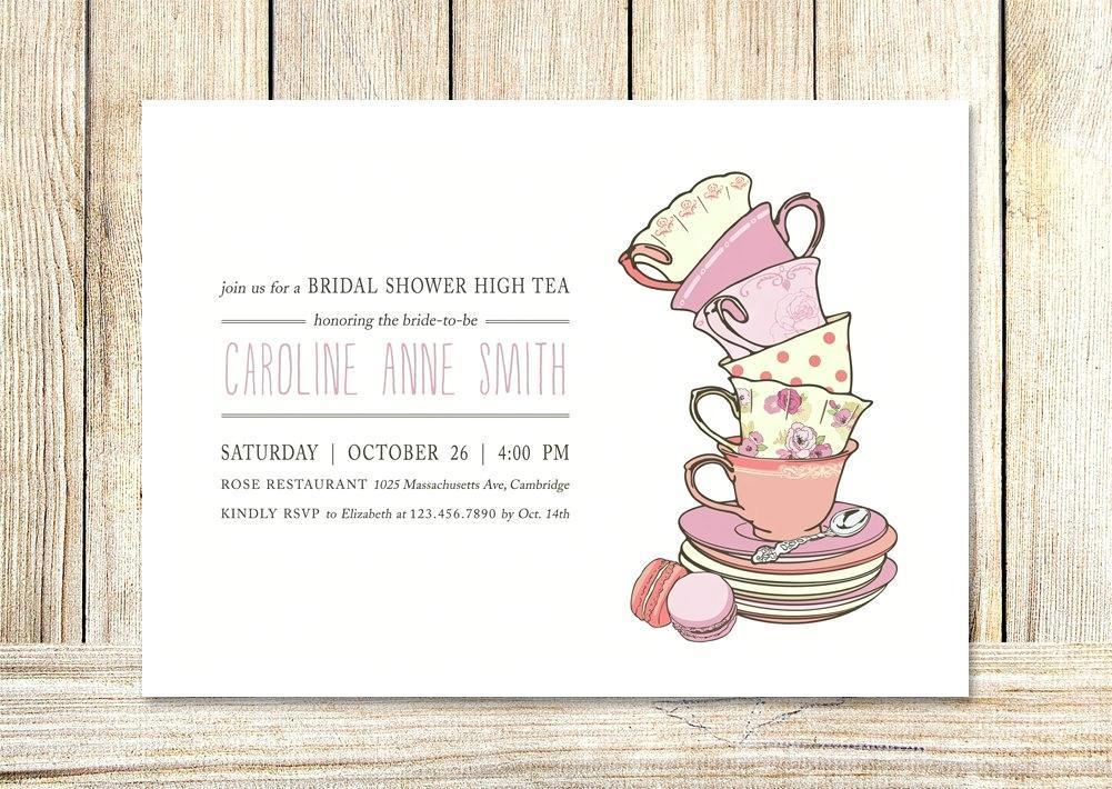 High Tea Invitation Template Blank