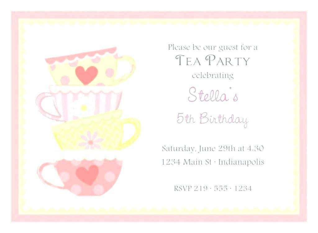 High Tea Invitation Templates Free