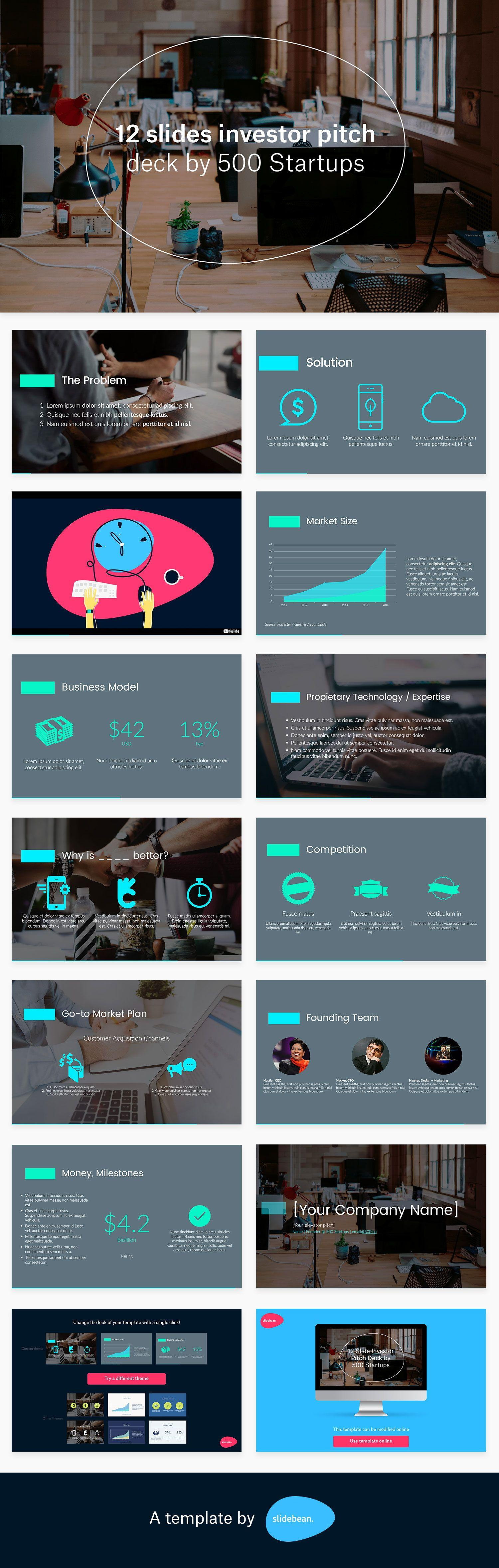 Highland Pitch Deck Powerpoint Template Free Download