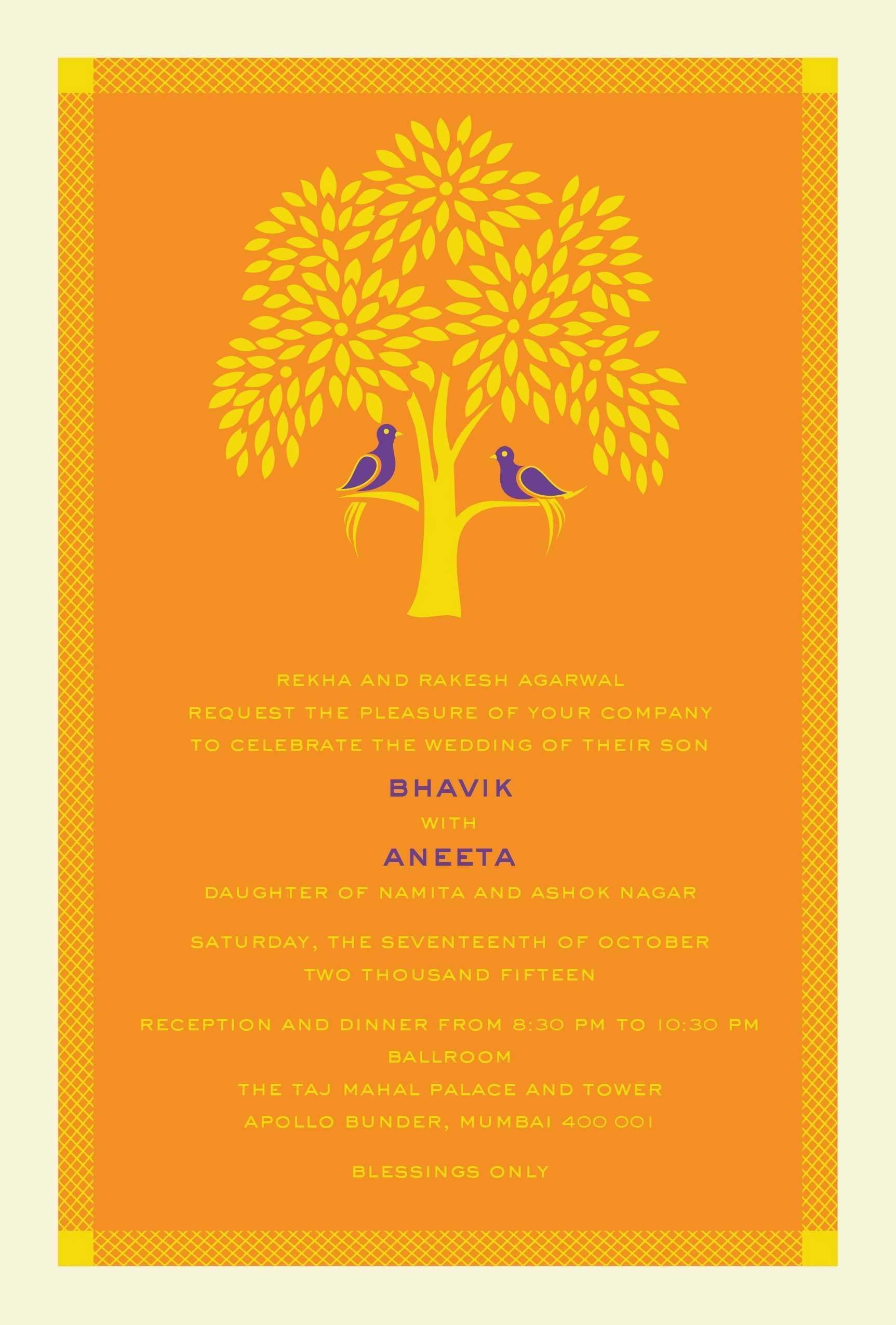 Hindu Wedding Invitation Cards Designs Templates