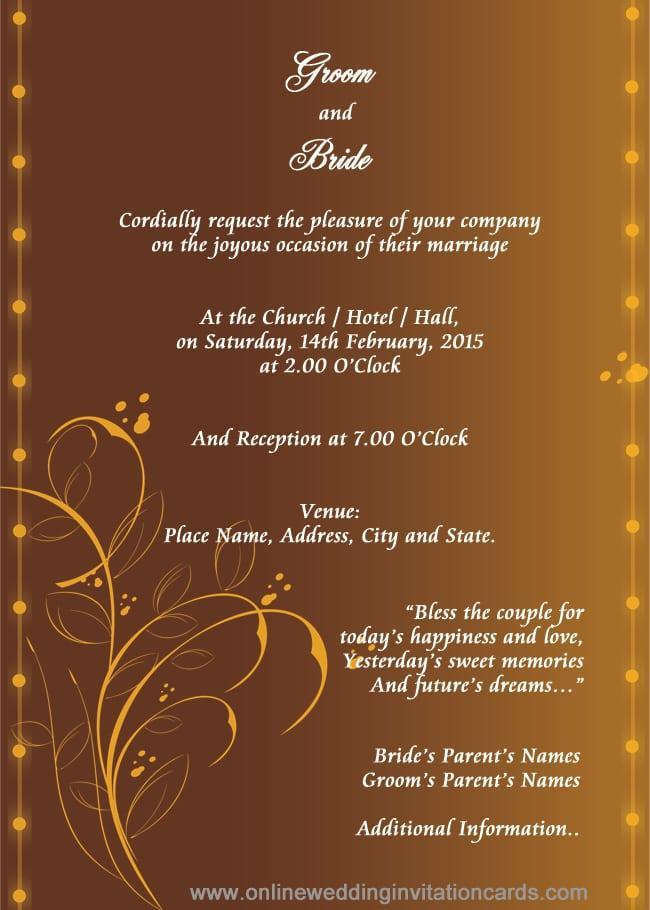 Hindu Wedding Invitation Editable Templates