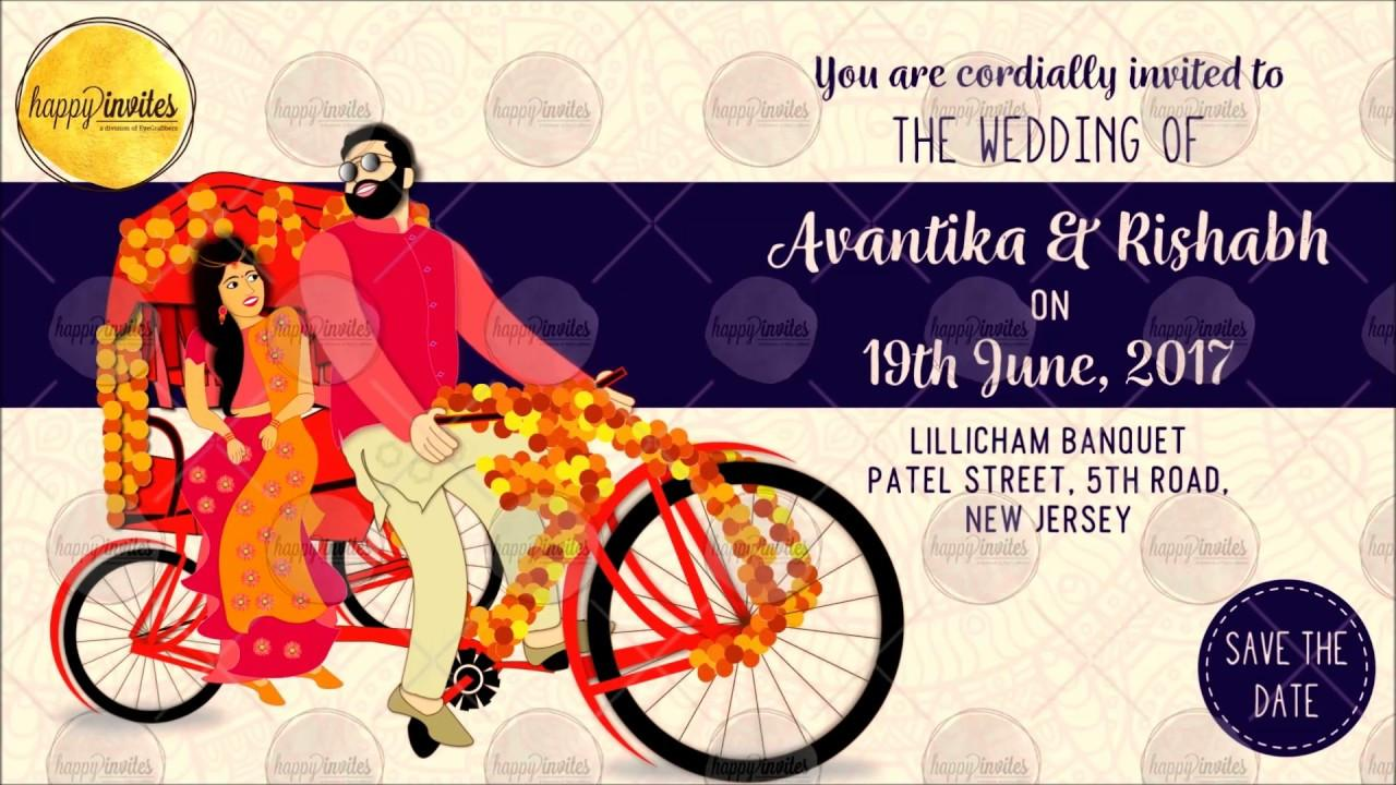 Hindu Wedding Invitation Video Templates
