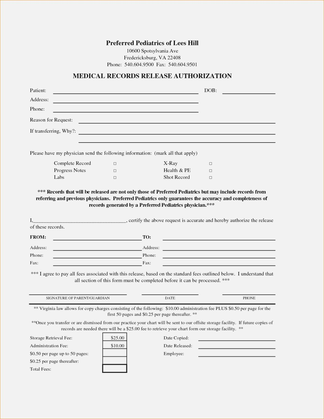 Hipaa Disclosure Form Template