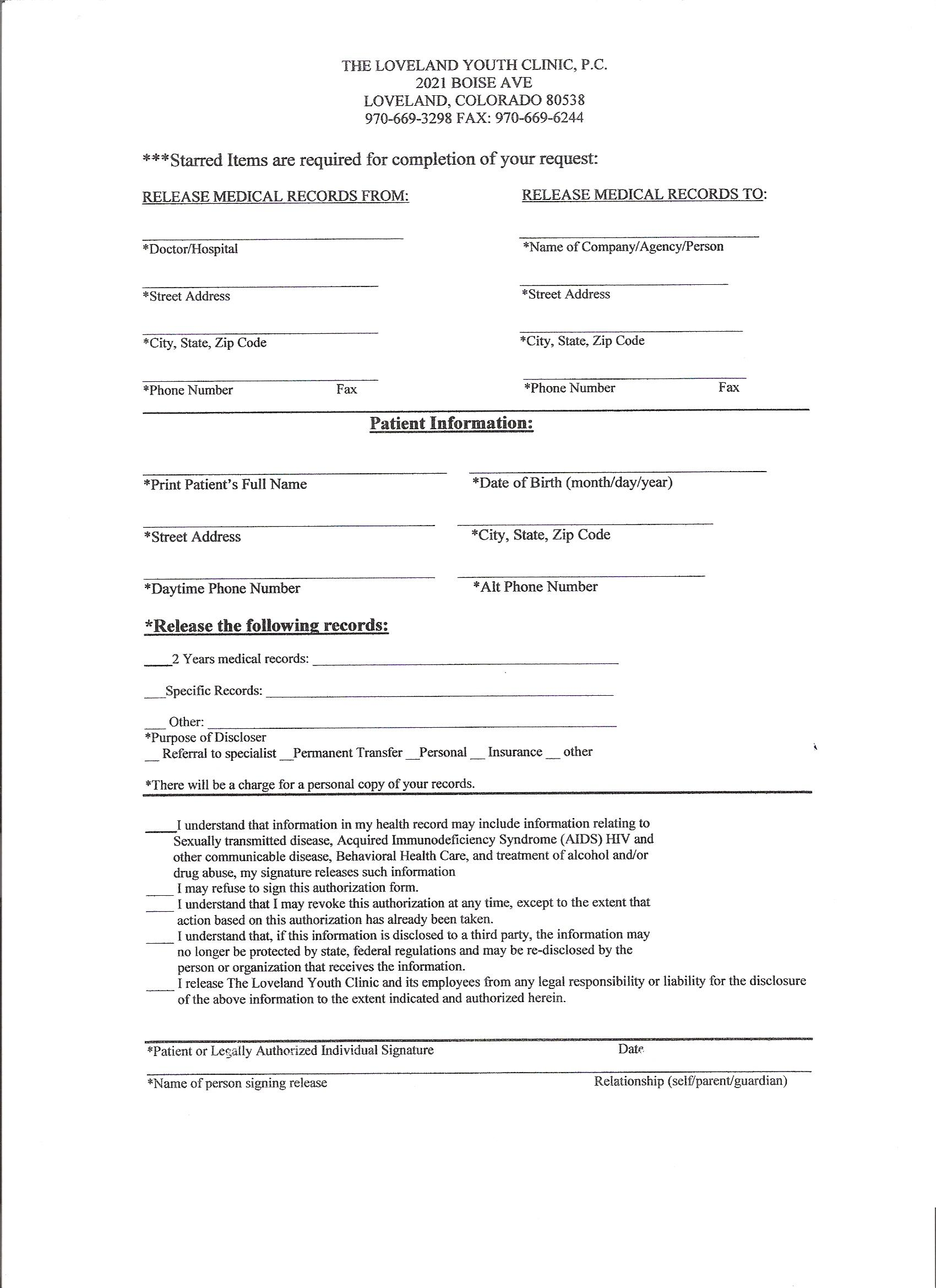 Hipaa Medical Records Release Form Template