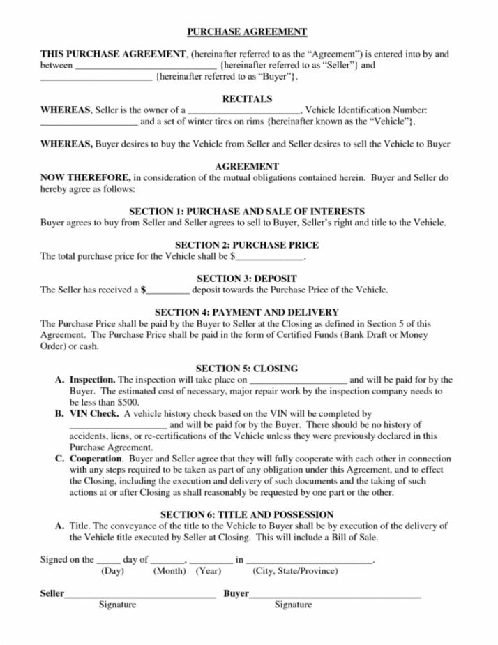Hire Purchase Agreement Template
