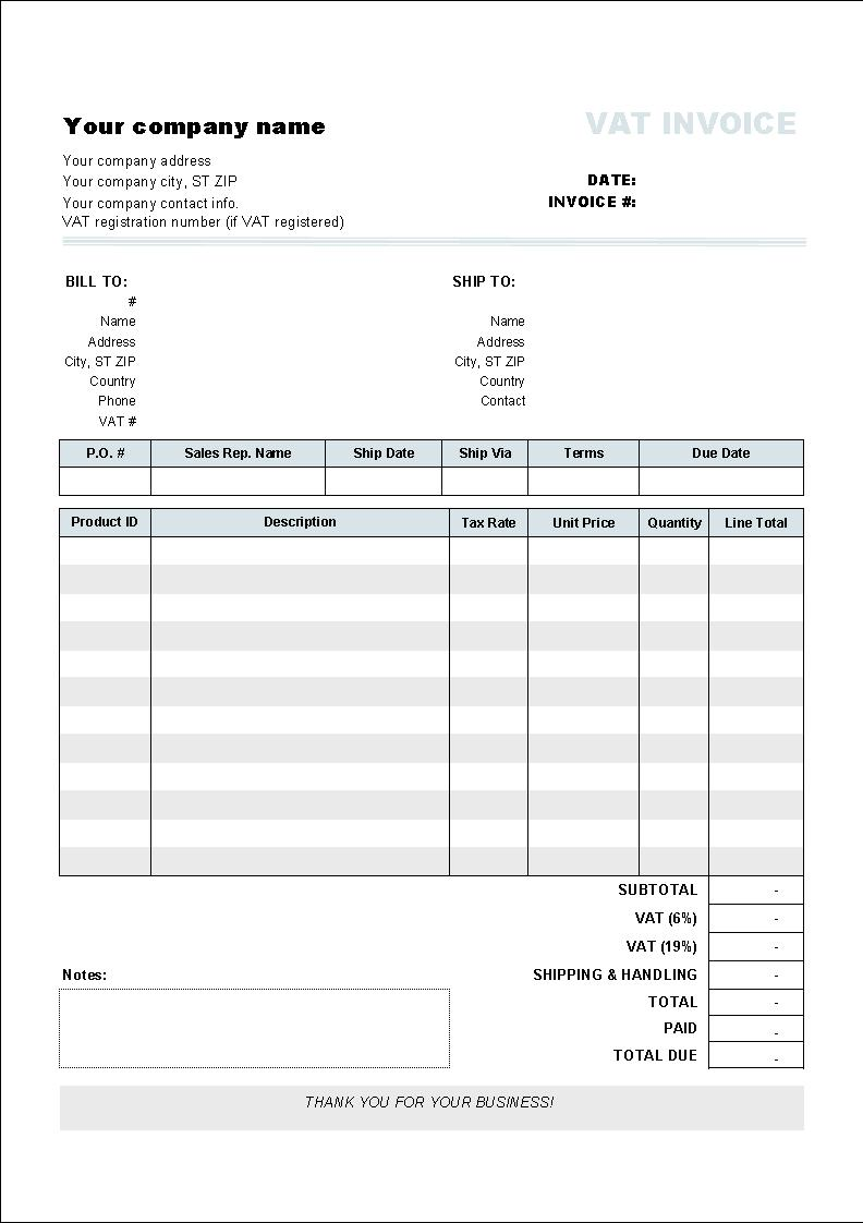 Hloom Proforma Invoice Template Free Samples Excel Word