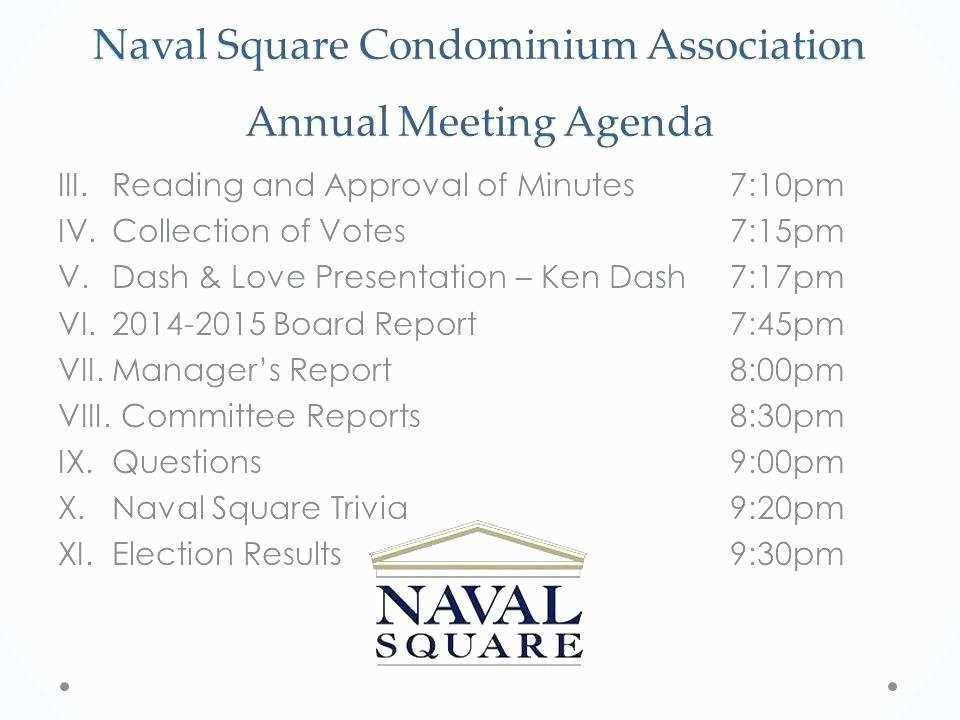 Hoa Annual Meeting Minutes Template