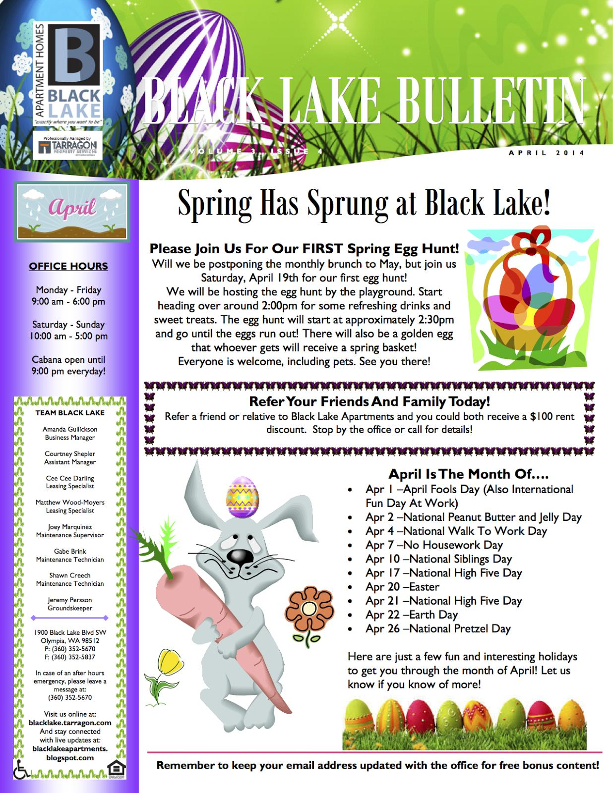 Hoa Community Newsletter Templates