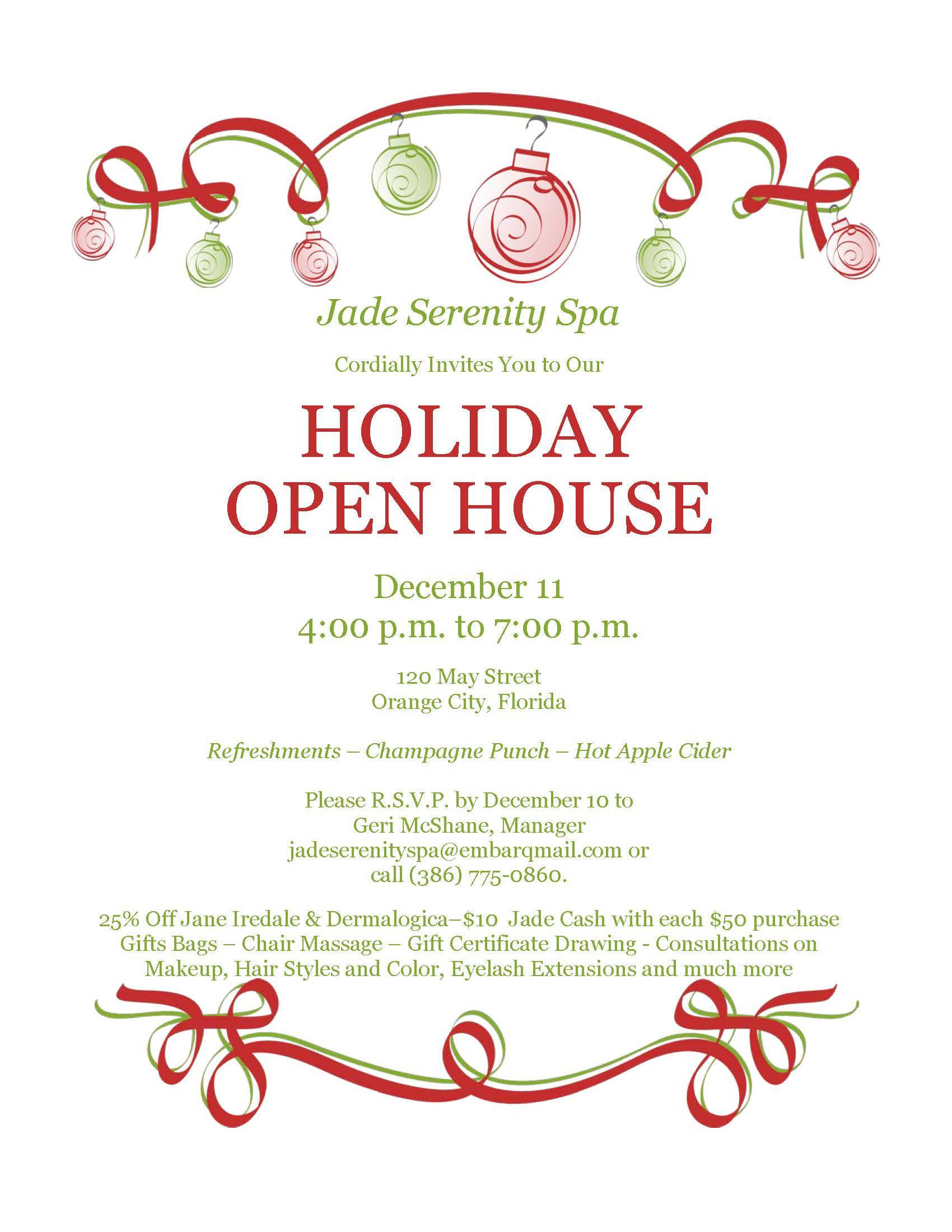 Holiday Open House Invitation Templates Free