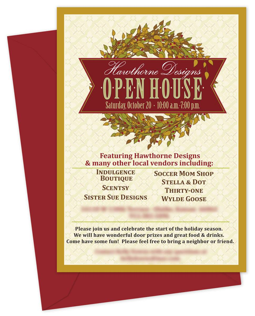 Holiday Open House Invitation Templates