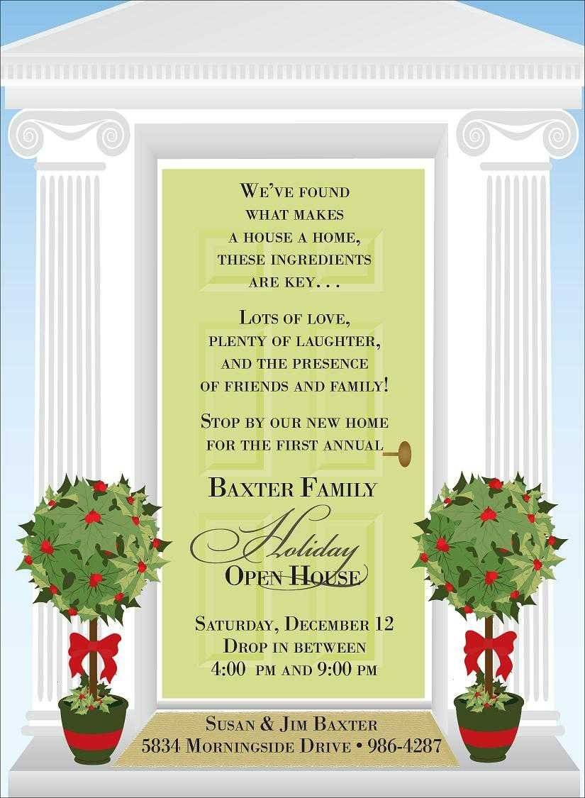Holiday Open House Invitations Templates
