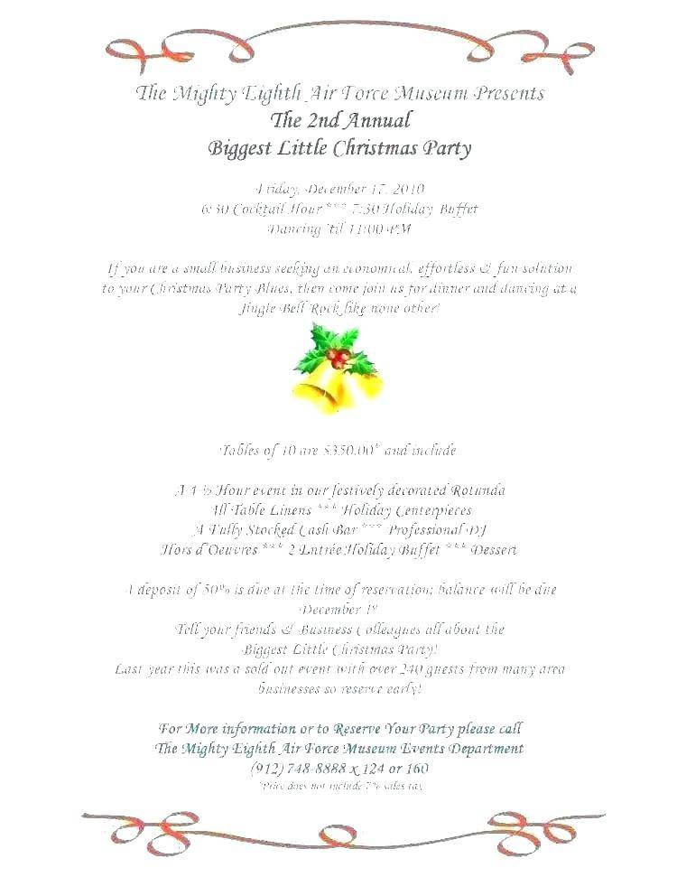 Holiday Party Program Template