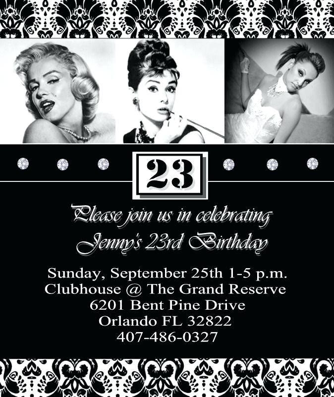 Hollywood Theme Party Invitation Templates