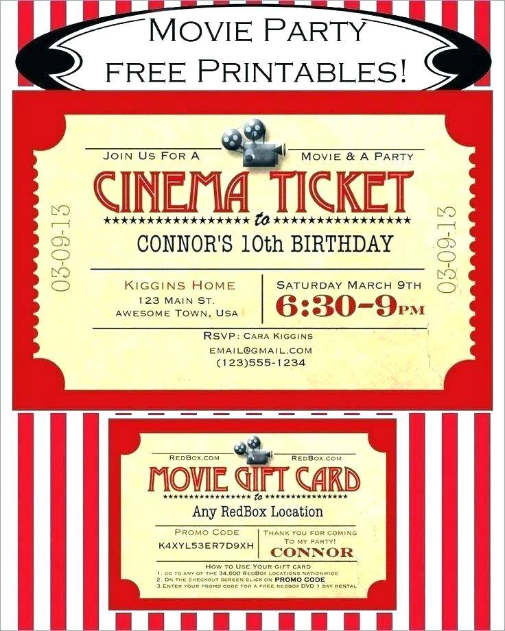 Hollywood Themed Birthday Party Invite Template