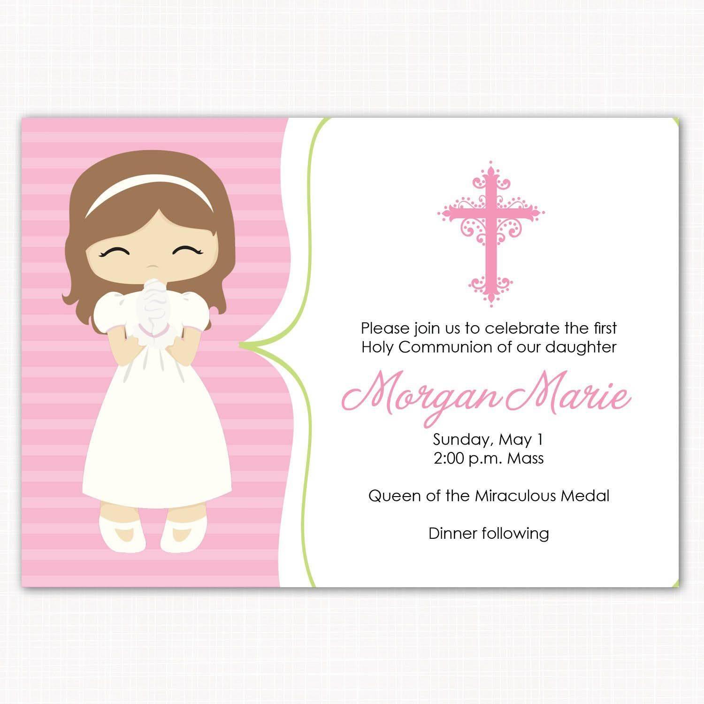 Holy Communion Invitation Card Template