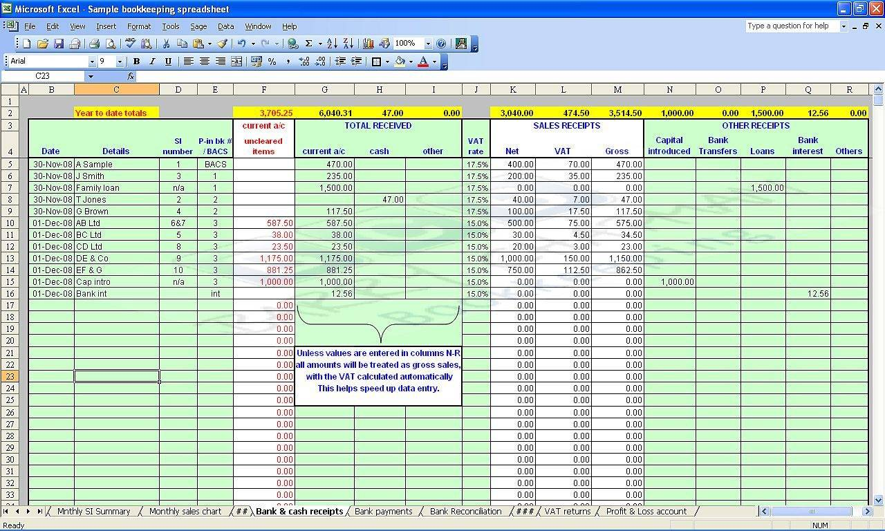 Home Accounting Spreadsheet Templates
