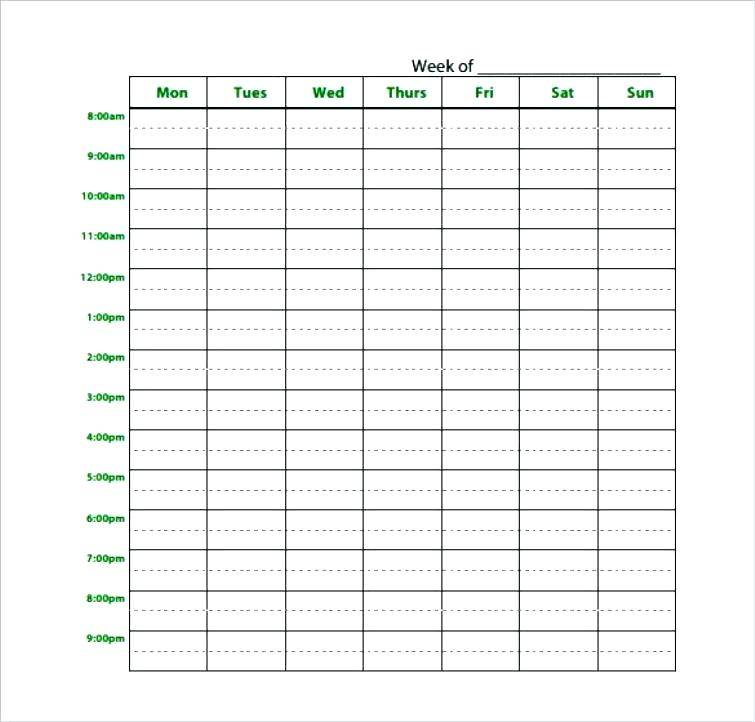 Home Daycare Daily Schedule Template