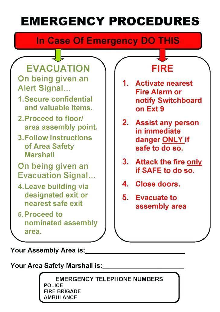 Home Fire Escape Plan Example