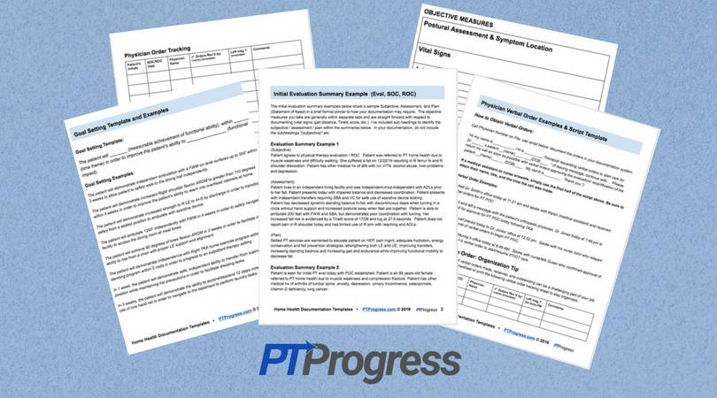 Home Health Physical Therapy Documentation Templates