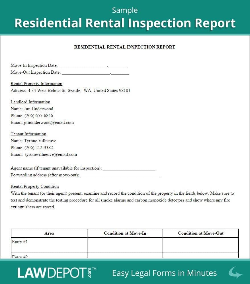 Home Inspection Report Template In Excel