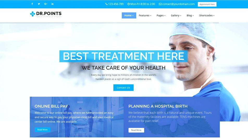 Homeopathy Clinic Website Templates Free Download
