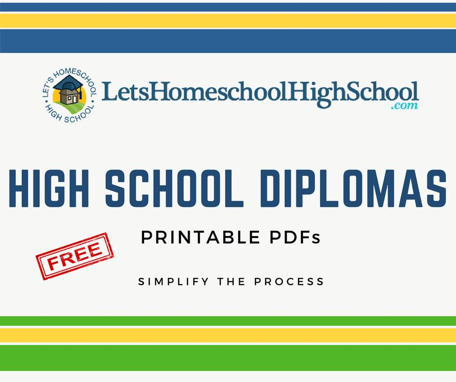Homeschool High School Diploma Templates