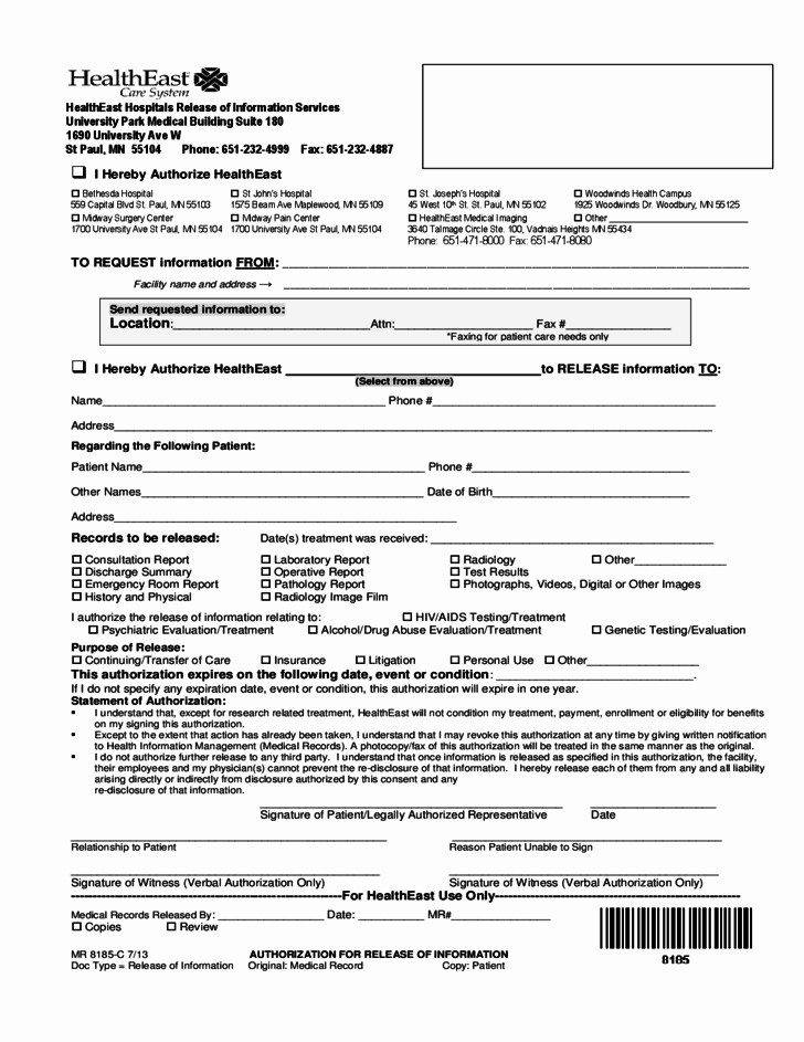 Hospital Discharge Form Template