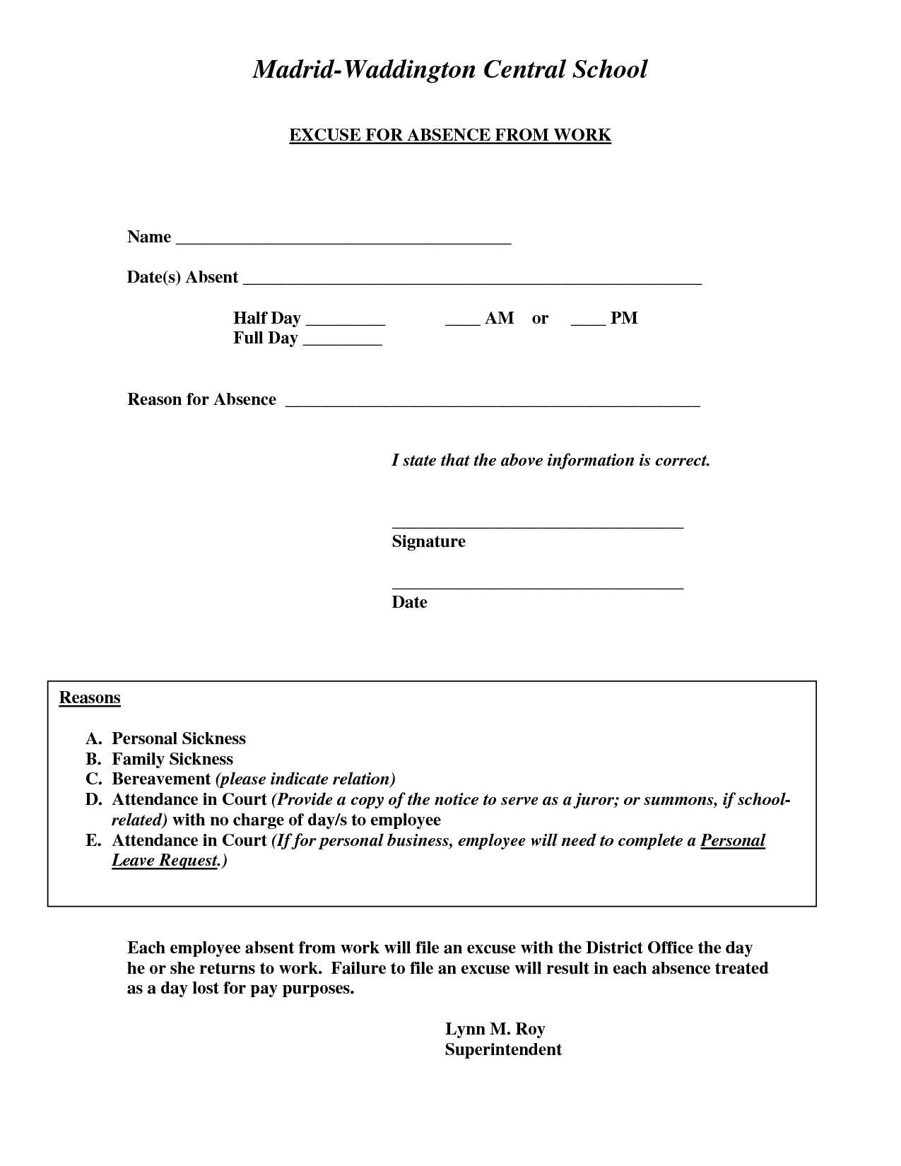 Hospital Doctors Note Template