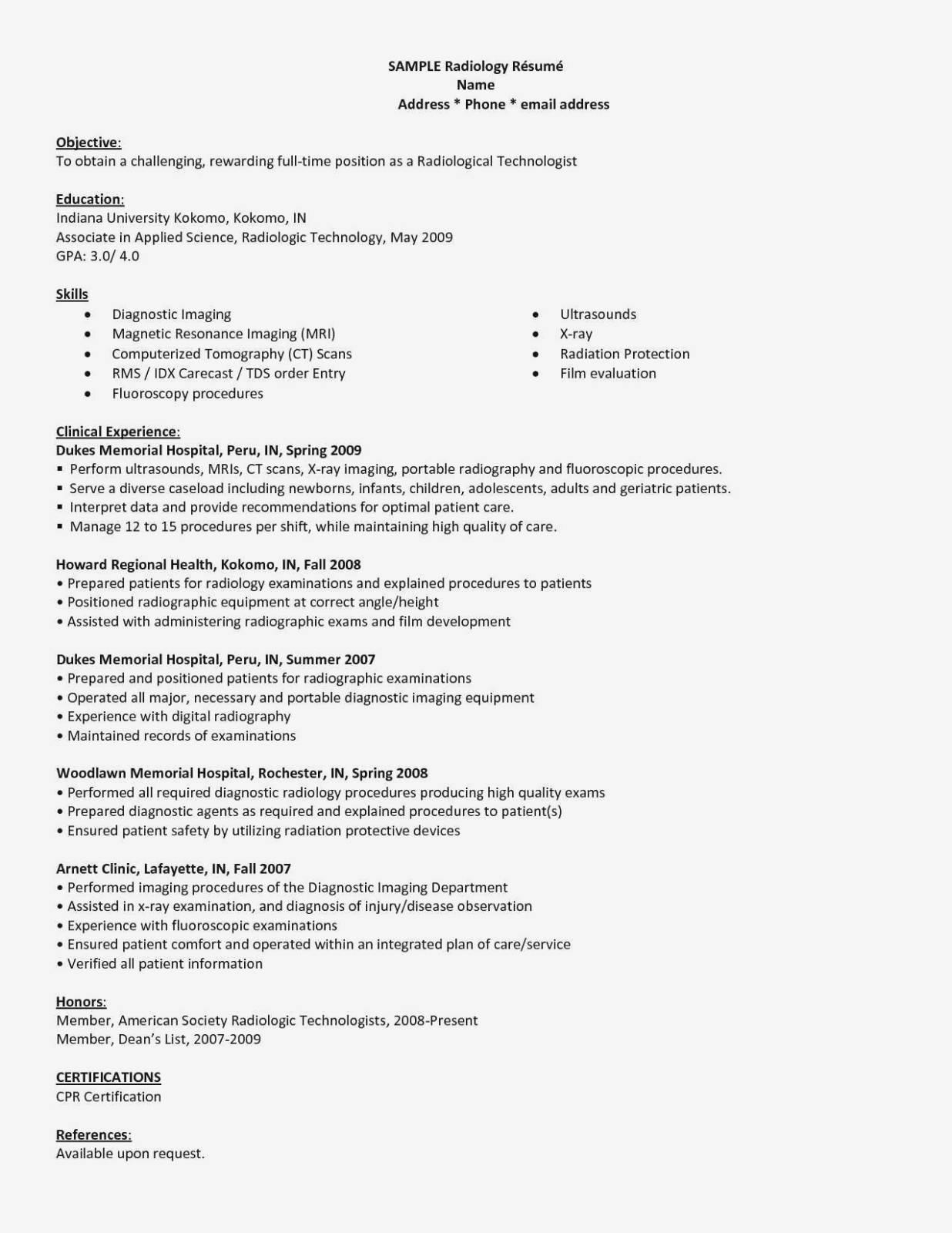 Hospital Pharmacy Technician Resume Template