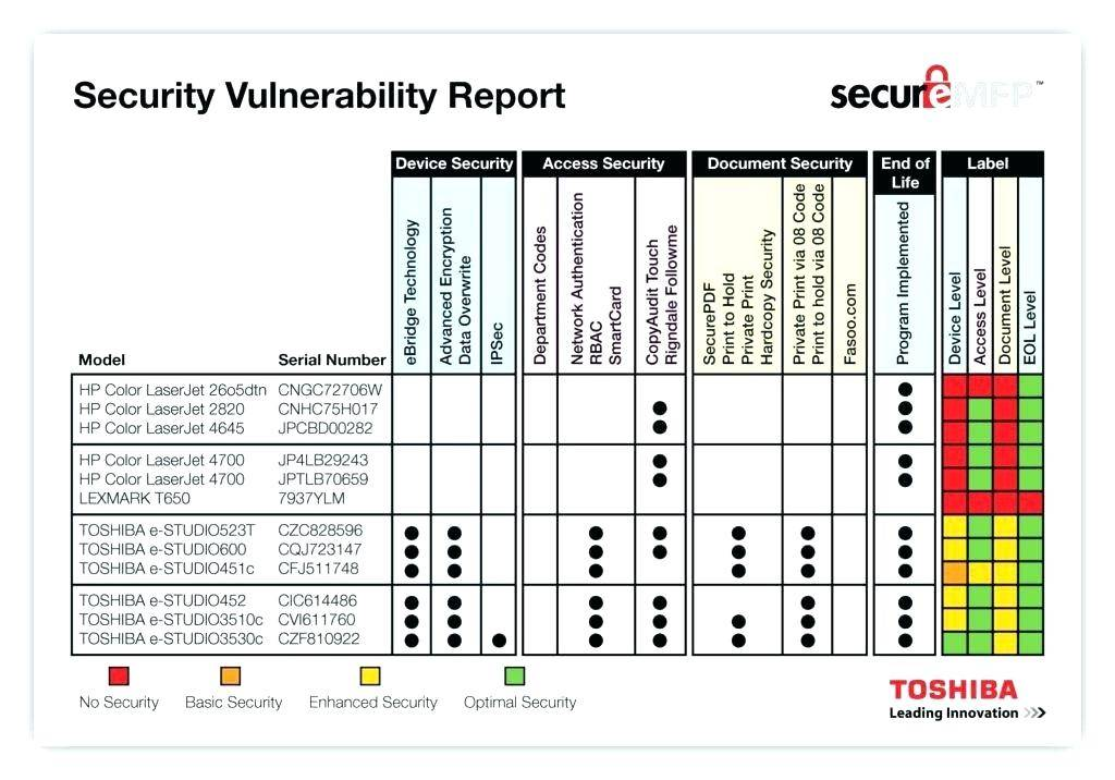 Hospital Security Vulnerability Analysis Template