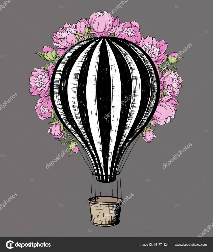 Hot Air Balloon Wedding Invitation Template