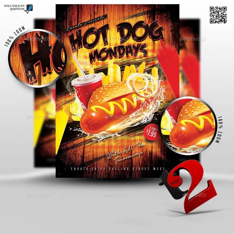 Hot Dog Flyer Template