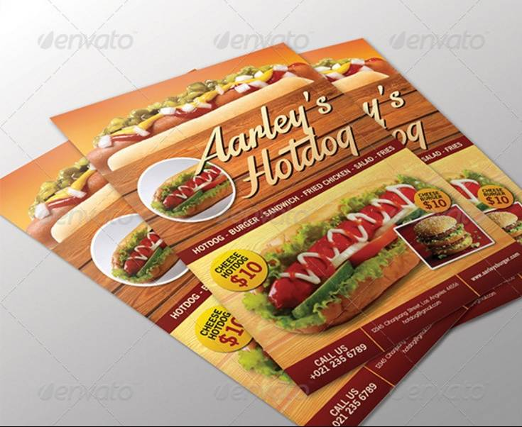 Hot Dog Party Flyer Template