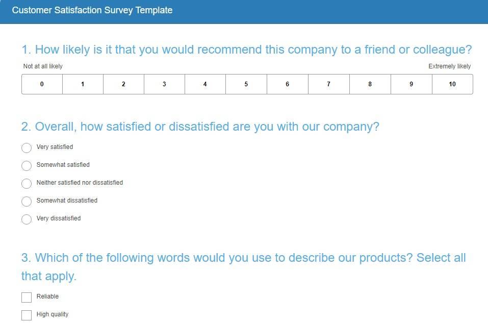 Hotel Feedback Survey Template
