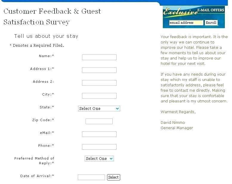Hotel Guest Satisfaction Survey Template
