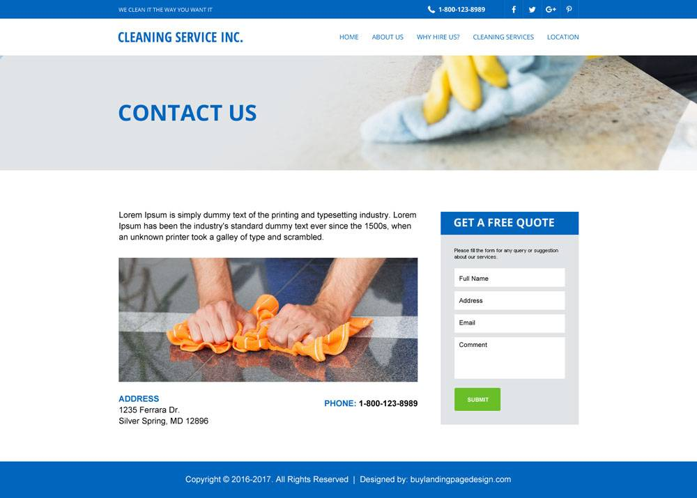 House Cleaning Website Templates