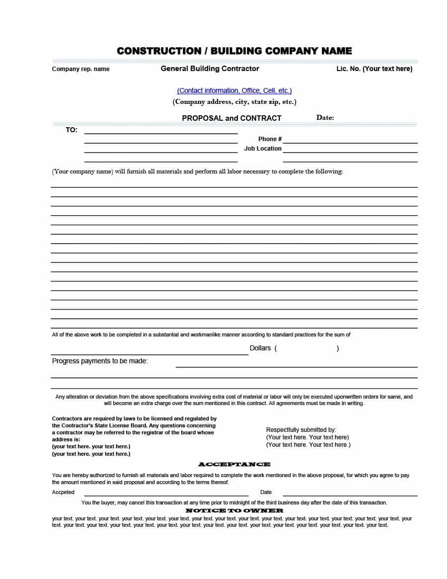 House Construction Contract Agreement India