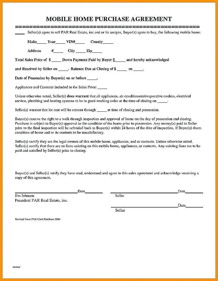 House Purchase Agreement Template Free