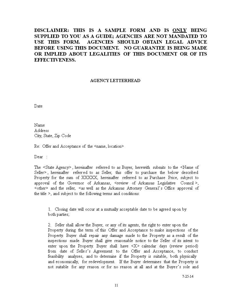 House Purchase Offer Letter Template