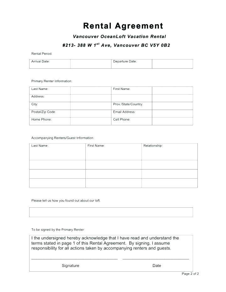 House Rent Agreement Template India